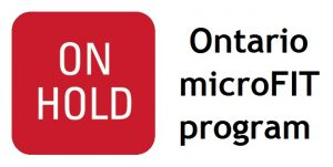 Ontario microFIT program is on hold